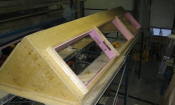 Custom A Frame on Flat Roof Job 003 (resized)