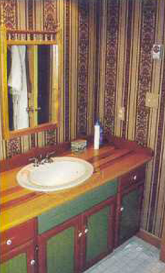The original bathroom was in definite need of a makeover.