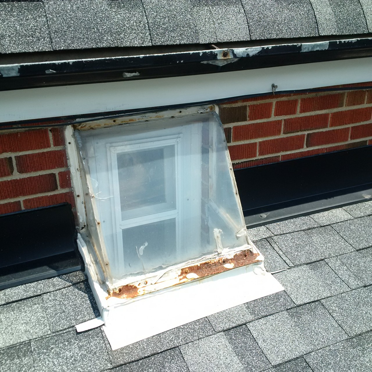 These are examples of homemade skylights.